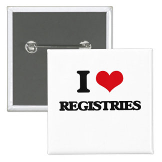 I Love Registries Pinback Button
