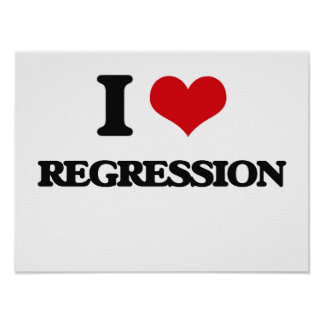 I Love Regression Poster