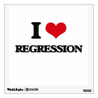 I Love Regression Wall Decal