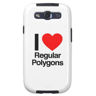 i love regular polygons galaxy s3 cover