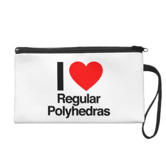 i love regular polyhedras wristlet purses