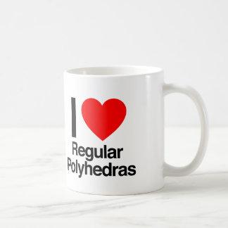 i love regular polyhedras coffee mug