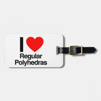 i love regular polyhedras luggage tags