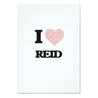 I Love Reid 3.5x5 Paper Invitation Card