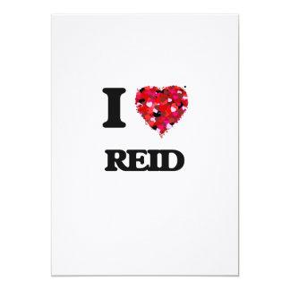 I Love Reid 5x7 Paper Invitation Card