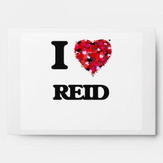 I Love Reid Envelopes