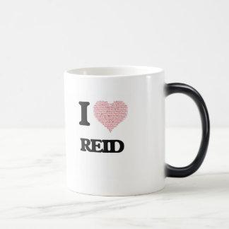 I Love Reid (Heart Made from Love words) 11 Oz Magic Heat Color-Changing Coffee Mug
