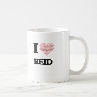I Love Reid (Heart Made from Love words) Classic White Coffee Mug