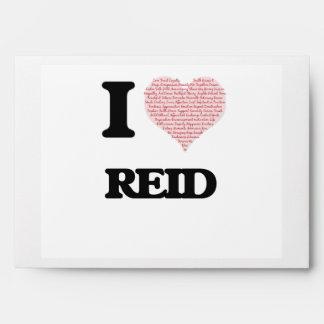 I Love Reid (Heart Made from Love words) Envelope