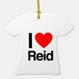 i love reid Double-Sided T-Shirt ceramic christmas ornament