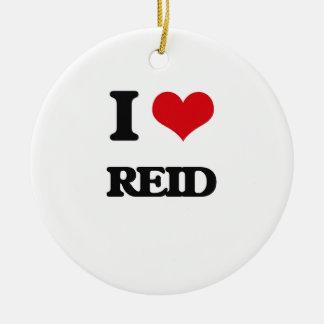 I Love Reid Double-Sided Ceramic Round Christmas Ornament