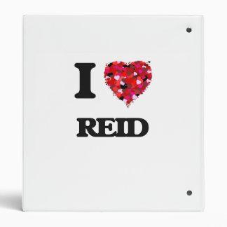 I Love Reid Vinyl Binder