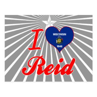 I Love Reid, Wisconsin Postcard