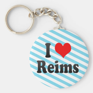 I Love Reims, France Key Chain