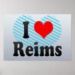 I Love Reims, France Poster