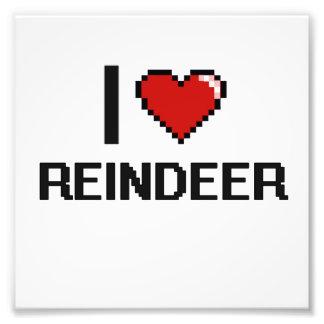 I love Reindeer Digital Design Photo Print