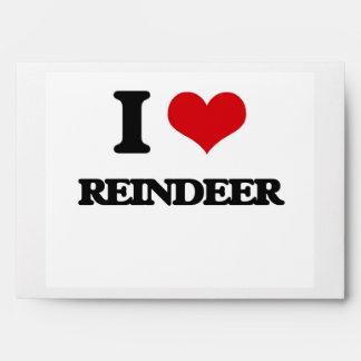 I Love Reindeer Envelopes