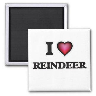 I Love Reindeer Magnet