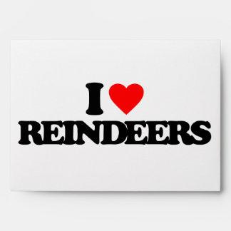 I LOVE REINDEERS ENVELOPE