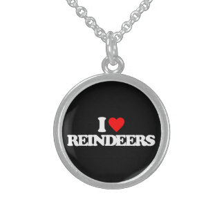 I LOVE REINDEERS STERLING SILVER NECKLACES