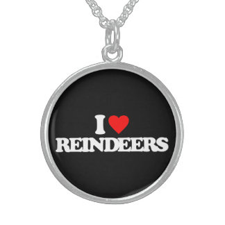 I LOVE REINDEERS PERSONALIZED NECKLACE
