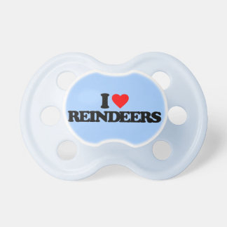 I LOVE REINDEERS BABY PACIFIERS
