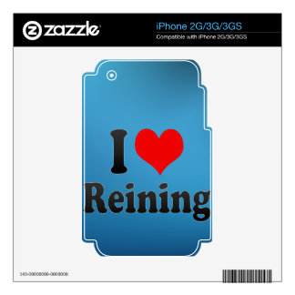 I love Reining iPhone 3GS Decal
