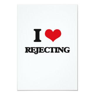 "I Love Rejecting 3.5"" X 5"" Invitation Card"