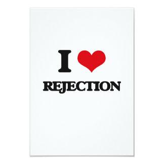 "I Love Rejection 3.5"" X 5"" Invitation Card"