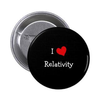 I Love Relativity Pinback Button