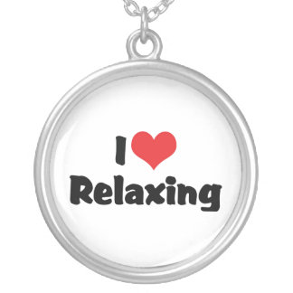 I Love Relaxing Round Pendant Necklace