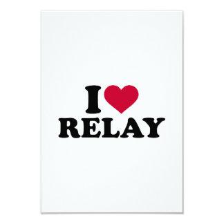 I love relay 3.5x5 paper invitation card