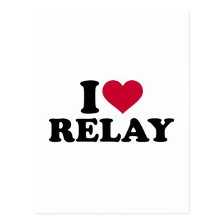 I love relay postcard