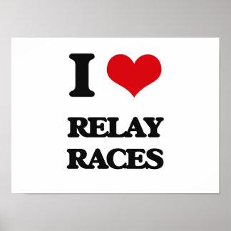 I Love Relay Races Print