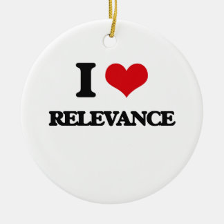 I Love Relevance Double-Sided Ceramic Round Christmas Ornament