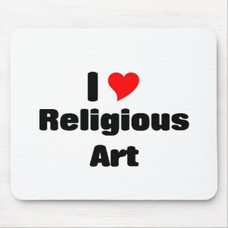 I love Religious art Mouse Pad
