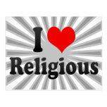 I love Religious Postcard