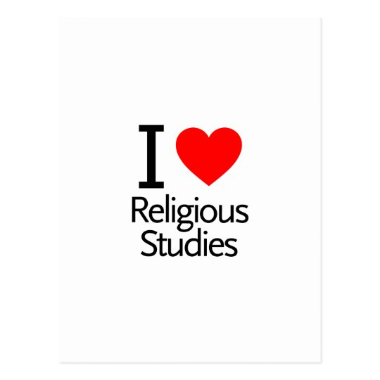 Religious Studies: I Love Religious Studies Postcard