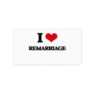 I Love Remarriage Address Label