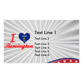 I Love Remington, Wisconsin Business Card Template