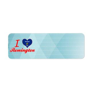 I Love Remington, Wisconsin Return Address Label