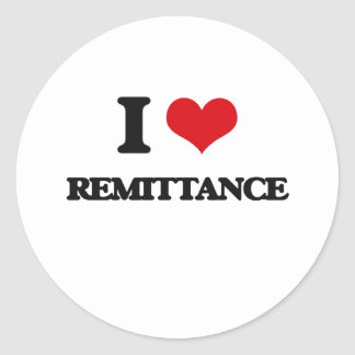 I Love Remittance Classic Round Sticker