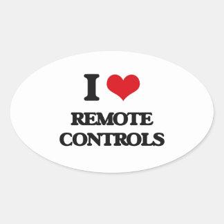 I Love Remote Controls Oval Sticker
