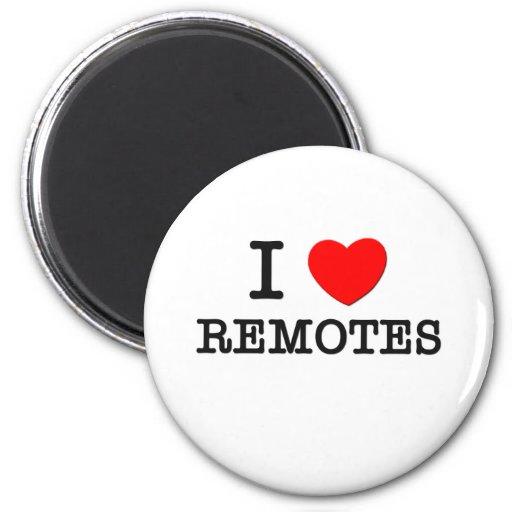 I Love Remotes 2 Inch Round Magnet