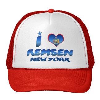 I love Remsen, New York Trucker Hats