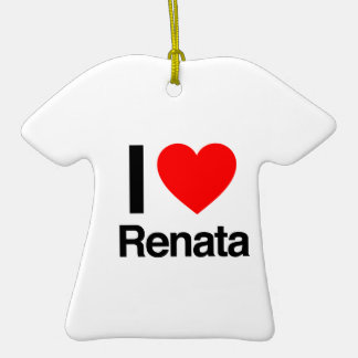 i love renata Double-Sided T-Shirt ceramic christmas ornament