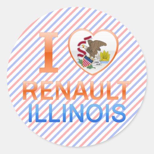 I Love Renault, IL Classic Round Sticker
