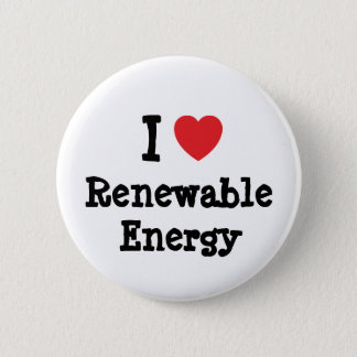 I love Renewable Energy heart custom personalized Button