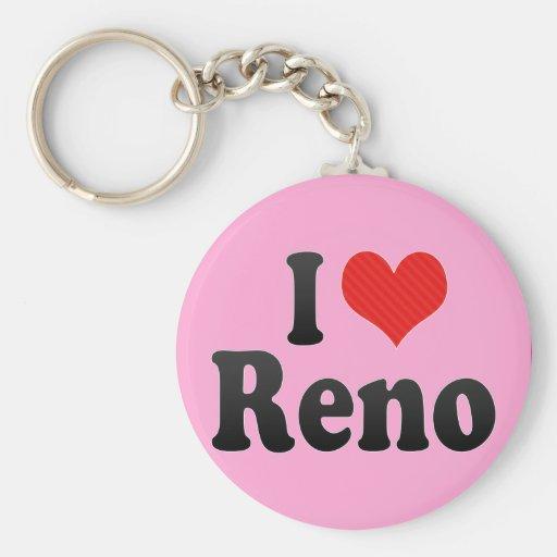 I Love Reno Basic Round Button Keychain