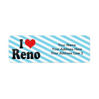 I Love Reno Label